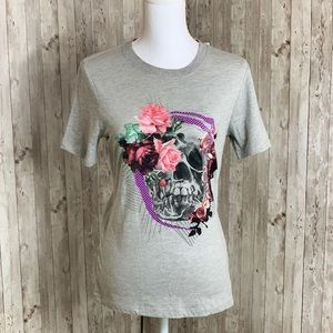 Converse Floral Scull Crew T-shirt